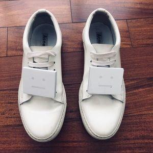 Acne Studios Adriana Patent white sneakers